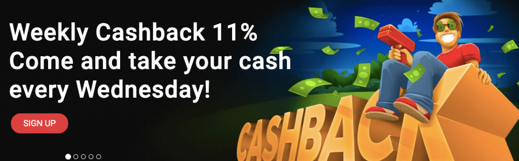 Weekly cashback for active play!