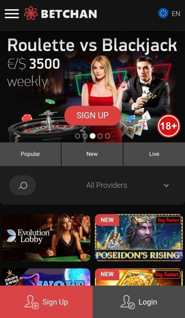 Betchan mobile app
